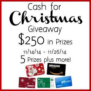 The Cash for Christmas Giveaway!