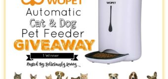 WOPET Automatic Dog and Cat Feeder Giveaway!