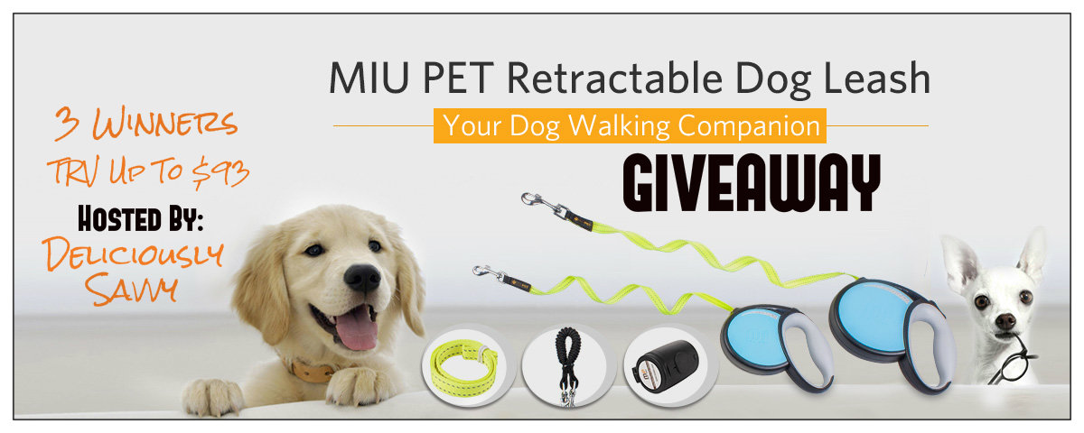 MIU PET Retractable Dog Leash Giveaway- 3 Winners! Ends 9/18