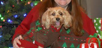 Ugly Christmas Sweater Twins!